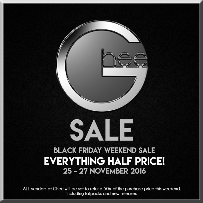 ghee-black-friday-weekend-half-price-sale